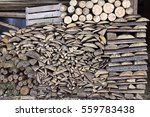 Collected Firewood In Woodpile...