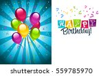 happy birthday greeting... | Shutterstock .eps vector #559785970