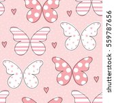Stock vector seamless butterfly pattern vector illustration 559787656