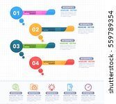 colorful infographics shapes... | Shutterstock .eps vector #559789354