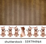 cat background graphic... | Shutterstock . vector #559794964