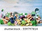 Top View Organic Food  Natural...