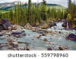 A View Of Kicking Horse River...