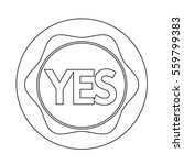 yes button icon | Shutterstock .eps vector #559799383