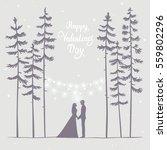 romantic silhouette of loving...   Shutterstock .eps vector #559802296