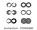infinity symbol icons vector... | Shutterstock .eps vector #559806880