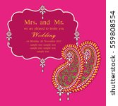 vintage invitation and wedding... | Shutterstock .eps vector #559808554