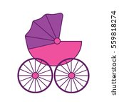 baby carriage stroller. flat... | Shutterstock .eps vector #559818274
