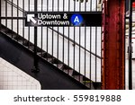 new york city subway inside and ... | Shutterstock . vector #559819888