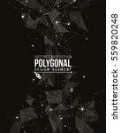 polygonal background with... | Shutterstock .eps vector #559820248