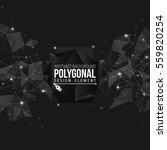 polygonal background with... | Shutterstock .eps vector #559820254
