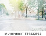 urban life scene with anonymous ... | Shutterstock . vector #559823983