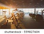 modern gym interior with... | Shutterstock . vector #559827604