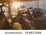 modern gym interior with... | Shutterstock . vector #559827688
