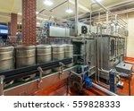 Modern Beer Brewery  Conveyor...