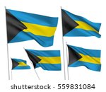 bahamas vector flags set. 5... | Shutterstock .eps vector #559831084