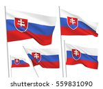 slovakia vector flags set. 5... | Shutterstock .eps vector #559831090
