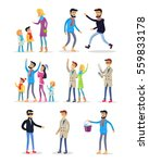 people celebrating new year on... | Shutterstock .eps vector #559833178