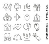 wedding icons set thin line... | Shutterstock .eps vector #559835428