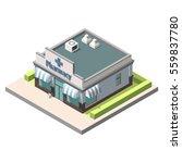 vector isometric pharmacy.... | Shutterstock .eps vector #559837780