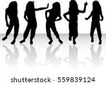vector silhouette of children ... | Shutterstock .eps vector #559839124