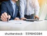 team work process. young... | Shutterstock . vector #559840384
