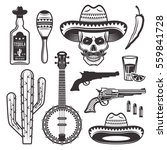 mexican ethnic attributes set... | Shutterstock .eps vector #559841728