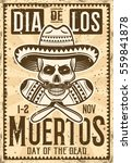 day of the dead mexican holiday ... | Shutterstock .eps vector #559841878