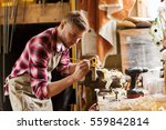 profession  carpentry  woodwork ... | Shutterstock . vector #559842814