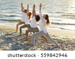 fitness  sport  yoga and... | Shutterstock . vector #559842946