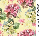 beautiful floral seamless... | Shutterstock . vector #559843069