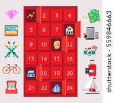 red locker with luxury quiz... | Shutterstock .eps vector #559846663