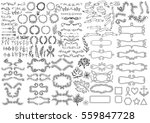 big set of vintage elements.... | Shutterstock .eps vector #559847728