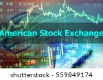 Small photo of American Stock Exchange - Abstract hand writing word to represent the meaning of financial word as concept. The word American Stock Exchange is a part of Investment vocabulary in stock photo.