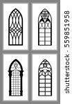set of gothic windows of...   Shutterstock .eps vector #559851958
