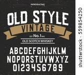 typeface. label. old style... | Shutterstock .eps vector #559854250