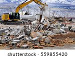 Heavy Equipment Being Used To...