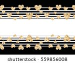 Gold Hearts Seamless Banner....