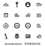 real estate vector icons for... | Shutterstock .eps vector #559856926