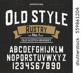 typeface.label. old style... | Shutterstock .eps vector #559861204