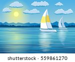 boat trips on the yacht | Shutterstock .eps vector #559861270