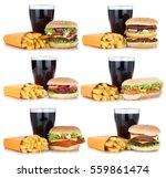 hamburger collection set...   Shutterstock . vector #559861474