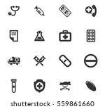 medical vector icons for user... | Shutterstock .eps vector #559861660