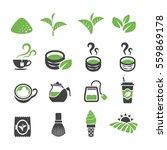 green tea tea icon | Shutterstock .eps vector #559869178