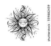 vector black and white magic... | Shutterstock .eps vector #559882459
