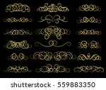 gold vintage decor elements and ... | Shutterstock . vector #559883350