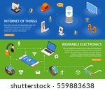 wearable electronic devices and ... | Shutterstock .eps vector #559883638
