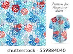 seamless tropical floral... | Shutterstock .eps vector #559884040