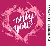 hand paint acrylic heart in... | Shutterstock .eps vector #559884388