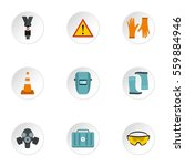 construction icons set. flat... | Shutterstock . vector #559884946